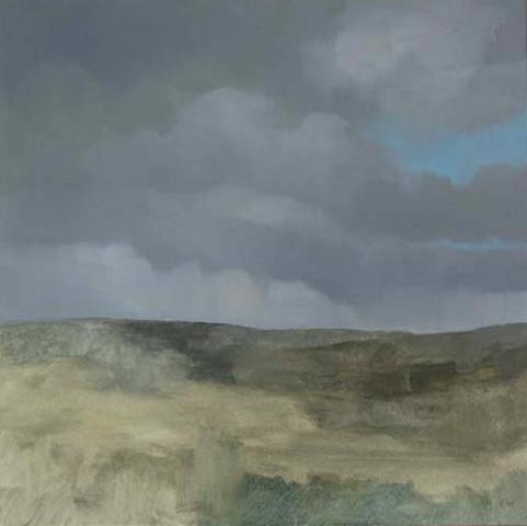 pafa alum elizabeth wilson artist E Wilson gouache oil painting rural landscape sky clouds UK England Ireland Wales Scotland philadelphia