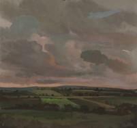 pafa alum elizabeth wilson artist E Wilson gouache oil painting rural landscape pink sky clouds UK Northumberland Westgate Lake District England Buttermere Ireland Wales Scotland philadelphia storm turbulence luminous tonal painting