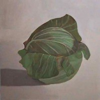 PAFA alum artist e wilson paintings by elizabeth wilson Philadelphia PA large oil on panel painting still life Cabbage Ben Kamihira Juan Sanchez Cotan Velazquez