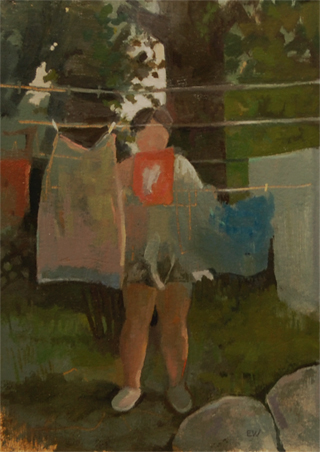Laundry – oil on rag board, 2012