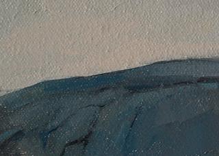Cadillac Mountain – small study, oil on canvas