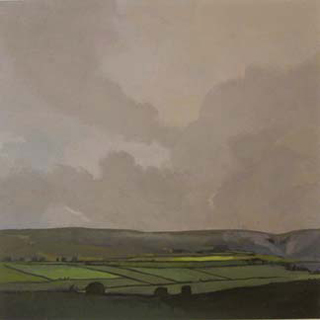 "Cumbria Valley II, UK (8.75"" x 9.75"") Gouache 2005"