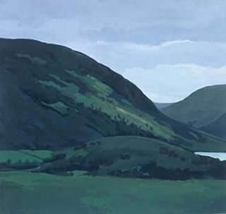 "Near Honister Pass I, UK (8.75"" x 9.5"") Gouache 1999"