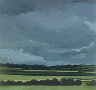 "English Field, UK (8.75"" x 9.5"") Gouache 2000"
