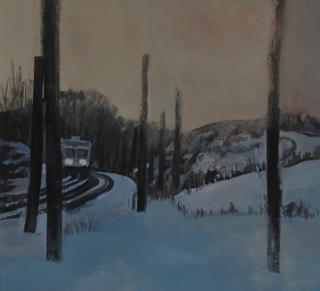 """Snowing - Gouache (8.75"""" x 9.5"""")"""