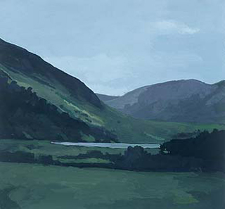 "Near Honister Pass II, UK (8.75"" x 9.5"") Gouache 1999"