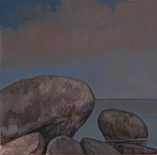 """Long Island Sound 10, (5"""" x 5""""), acrylic on panel, 2014"""