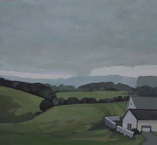 "Off Providence Road, Chester County (8.75"" x 9.5"") Gouache 2001"