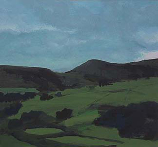 "Newlands Valley I, UK (8.75"" x 9.5"") Gouache 1999"