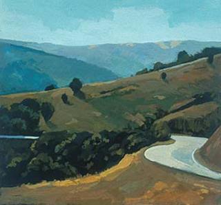"""Marin County I (8.75"""" x 9.5"""") Gouache 1997"""