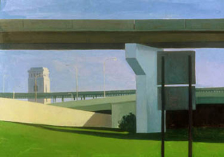 "I - 95 Ramps from Callowhill St. (26"" x 40"") Oil on resin-impregnated paper 1992"
