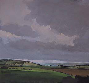 "Near Tewksebury, UK (8.75"" x 9.5"") Gouache 2003 - 2004"