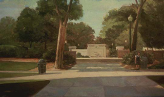 "Late Afternoon II (30"" x 50"") oil on linen 1987"