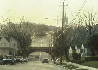 "Woodbine Avenue (21.25"" x 29.5"") oil on watercolor paper 1992"