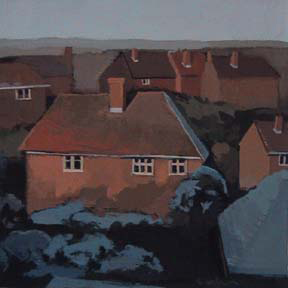 "Guildford, UK (4 3/4"" x 4 3/4"") Gouache 2003"