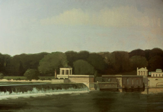 "Waterworks (34"" x 48"") oil on linen 1988"