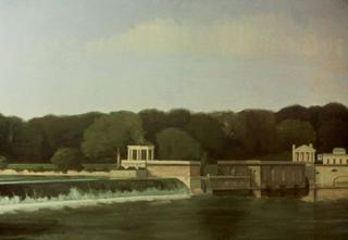 Waterworks (34″ x 48″) oil on linen 1988