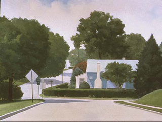 "House on Powdermill Road (46"" x 62"") oil on linen 1994"