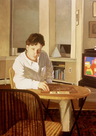 "Scrabble (72"" x 50"") oil on linen 1995-1996"