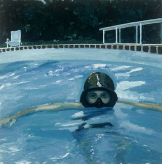 "The Deep End (20"" x 20"") oil on linen 1994"