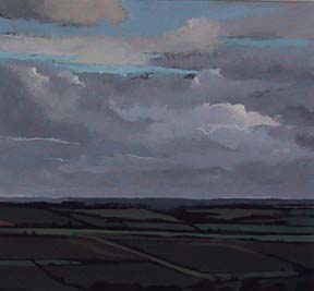 "Towards Winchcombe, UK (8.75"" x 9.5"") Gouache 2002"