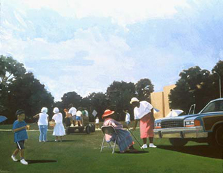"Memorial Day (48"" x 60"") oil on linen 1991 - 1992"