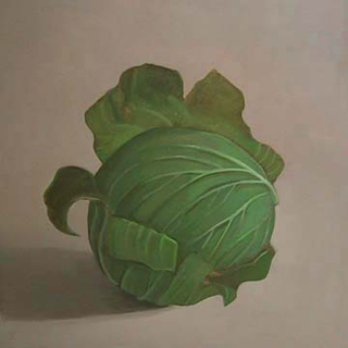Cabbage II (12″ x 12″) oil on panel 2007
