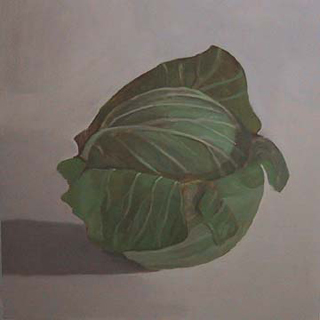 "Cabbage III (12"" x 12"") oil on panel 2007"