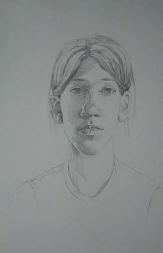 "Natalie II (17"" x 11"") graphite 2006"