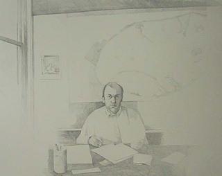 "Architect (32"" x 40"") graphite 2006"