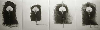 "Basketball Court Series (17"" x 14"") each, charcoal 1988"