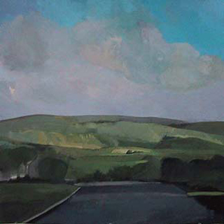 "Morning Light, Cumbria, UK (24.5"" x 24.5"") Gouache 2005"
