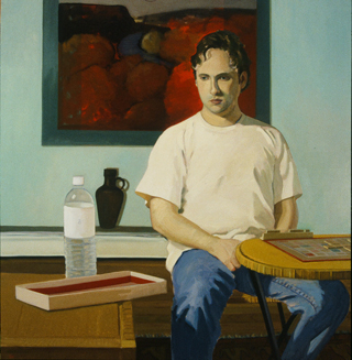 Your Move, oil on linen, 54 x 52 inches, 1996