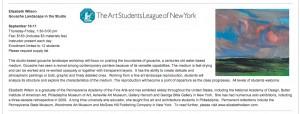 Art Students League - poster