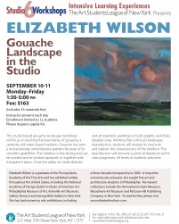 pafa alum painter artist E Wilson Artist elizabeth wilson teaching Art Students League New York Gouache Landscape painting philadelphia UK Ireland Wales Scotland English landscape paintings