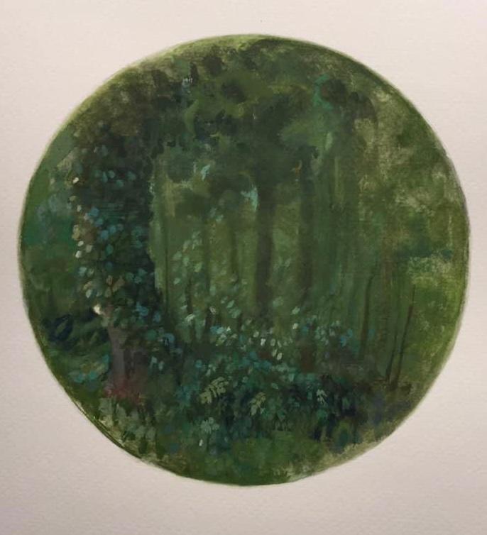 Edge of the Woods - Tondo,  2020