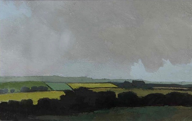 Yellow Field, County Wexford, Ireland – small gouache 2008